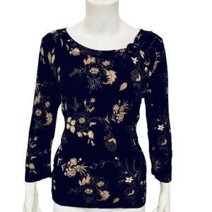 EMMA JAMES | Women's Floral Crewneck Blouse S